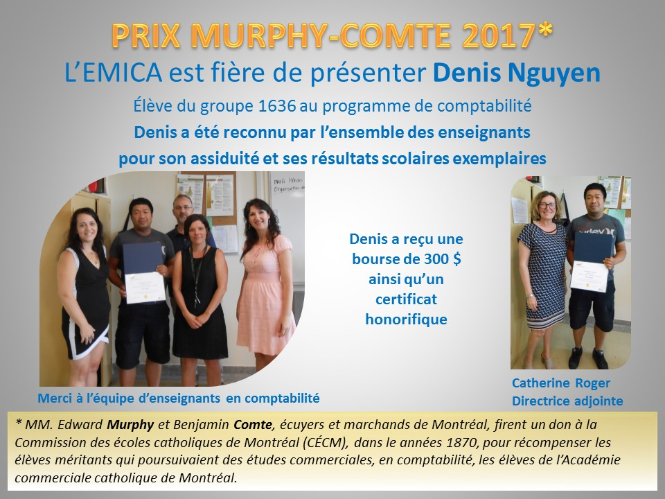 Prix Murphy Comte 2017
